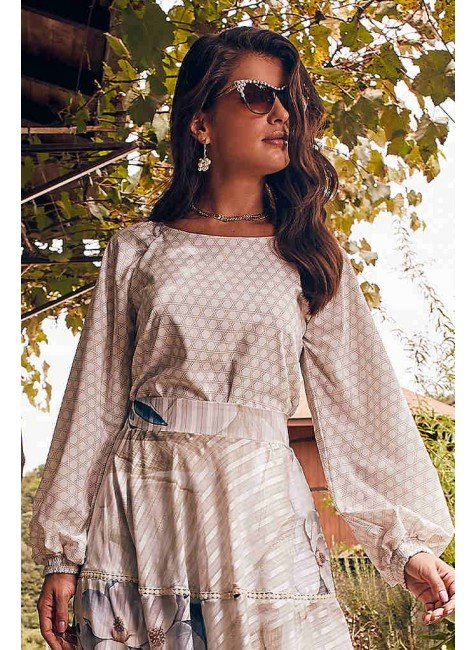 blusa estampa exclusiva jiordana jany pim frente cima