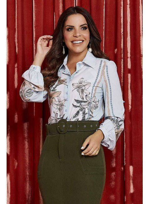 camisa ana gabriely estampa exclusiva jany pim frente cima