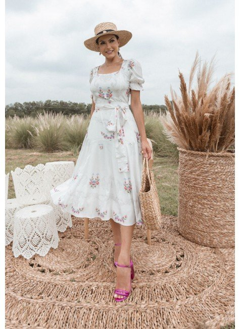 vestido telma modelo midi jany pim