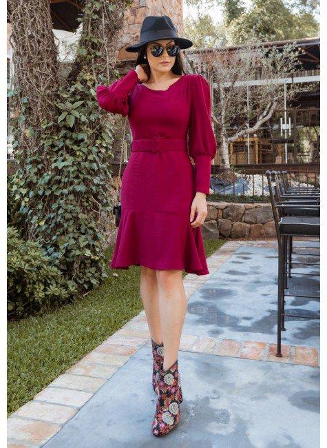 vestido eliana na cor vinho jany pim