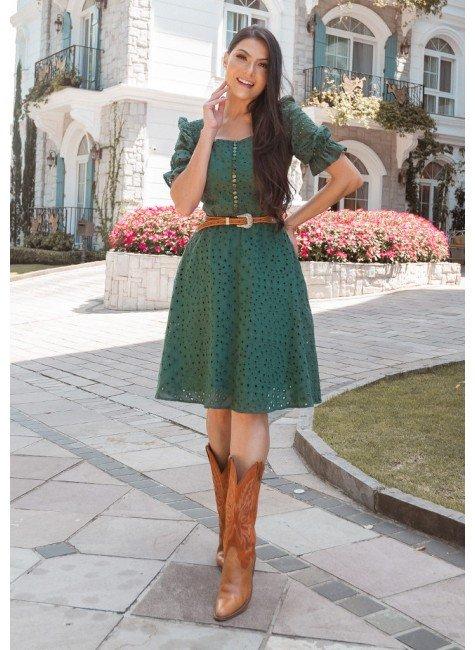 vestido camila cor verde musgo jany pim