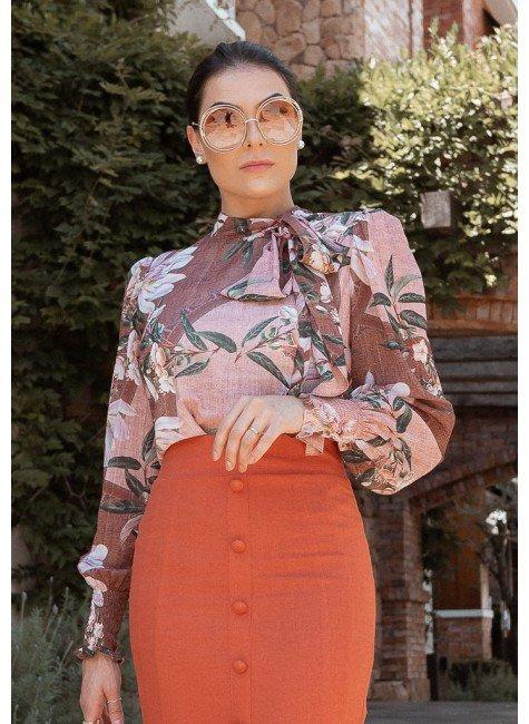 blusa leda estampa exclusiva cima jany pim