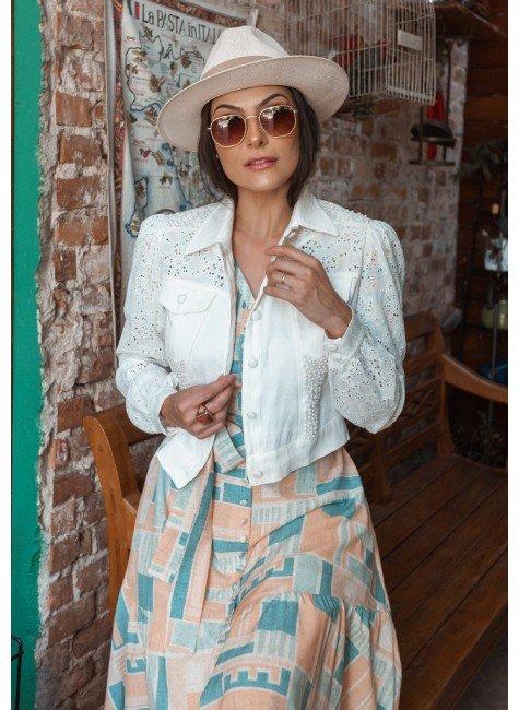 jaqueta suelen na cor off white jany pim