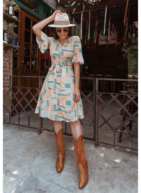 vestido cris estampa exclusiva jany pim