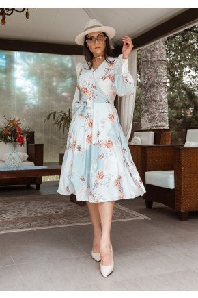 vestido melissa estampa exclusiva jany pim