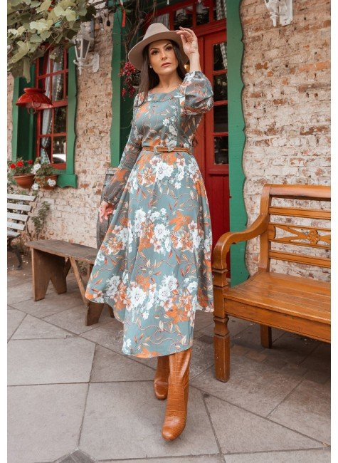 vestido any gabriely estampa exclusiva jany pim