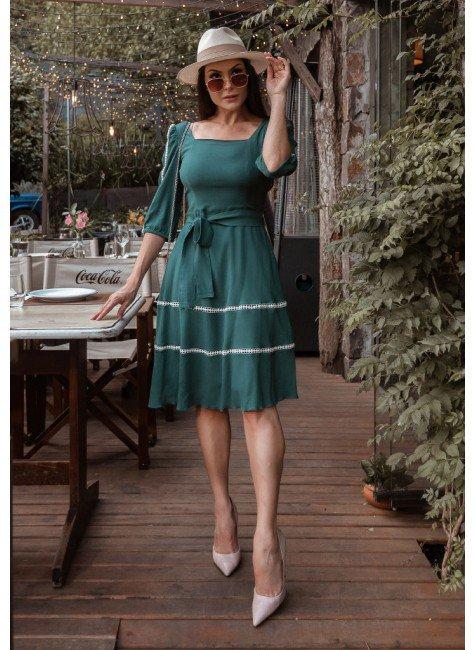 vestido rubia na cor verde jany pim