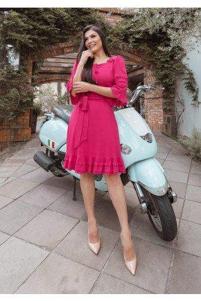vestido ingridy na cor pink jany pim