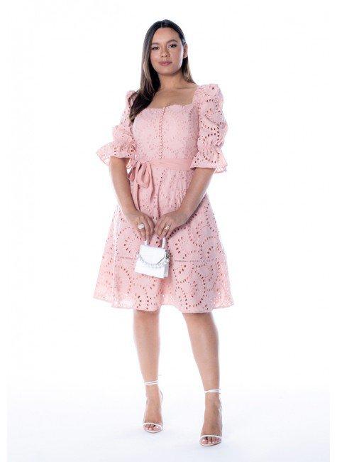 vestido debora na cor rose jany pim