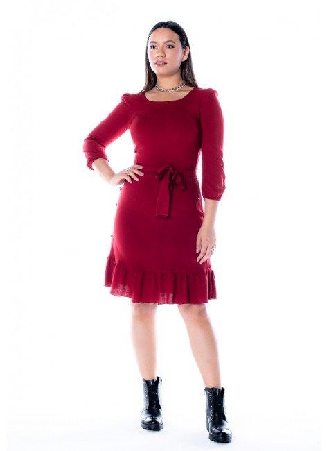 vestido antonia na cor vermelho jany pim