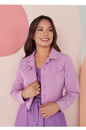 jaqueta diva na cor lilas Jany Pim