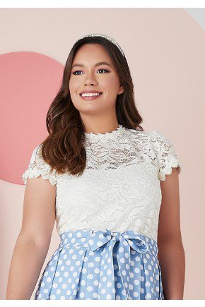 blusa jaqueline na cor Off -White Jany Pim