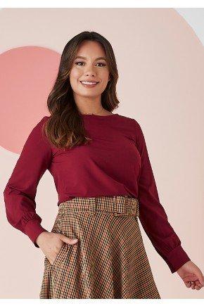 blusa Bianca na cor marsala Jany Pim